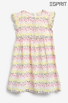 Esprit White Leopard Print Dress