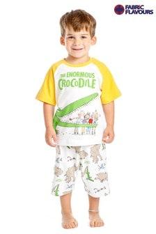 Fabric Flavours White The Enormous Crocodile Pyjamas