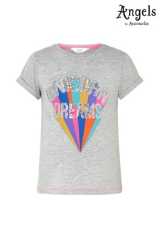 Angels by Accessorize Grey Unicorn Dreams T-Shirt