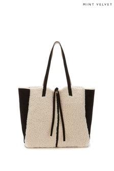 Mint Velvet Lana Faux Shearling Tote Bag