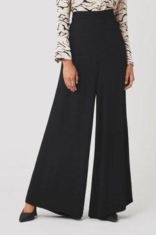 Ghost London Black Eleanor Satin Trousers