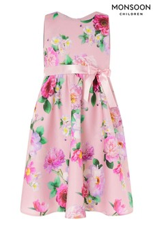 Monsoon Pink Floral Print Scuba Dress