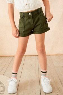 Turn-Up Denim Shorts (3-16yrs)