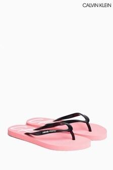 Calvin Klein Pink Wave Flip Flops