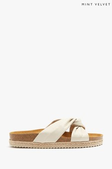 Mint Velvet Bryony Off-White Knot Sandals