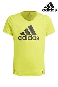 adidas Yellow Performance T-Shirt