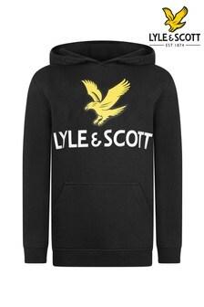 Lyle & Scott Black Eagle Logo Hoody