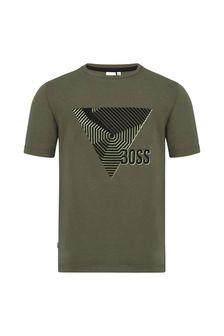 Boss Kidswear Boys Green Cotton T-Shirt
