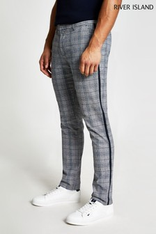 River Island Grey Check Skinny Trousers