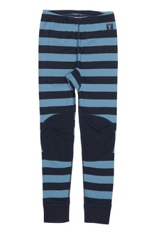 Polarn O. Pyret Blue Striped Thermal Long Johns