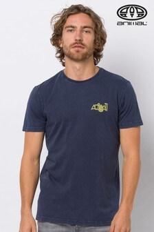 Animal Indigo Blue Ago Deluxe Graphic T-Shirt