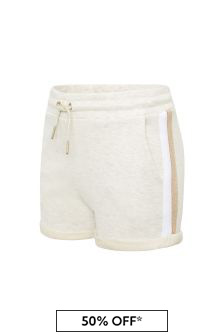 Boss Kidswear Girls Beige Cotton Shorts