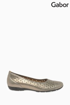 Gabor Gold Ruffle Mutaro Metallic Casual Shoes