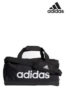 adidas Black Small Linear Duffle Bag