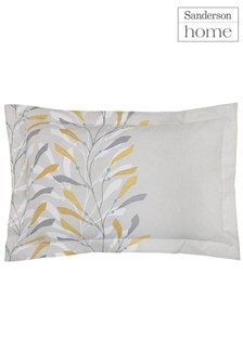 Sanderson Home Sea Kelp Leaf Cotton Pillowcase