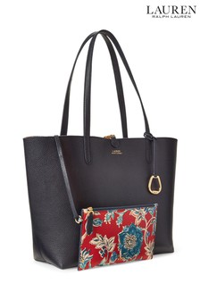 Lauren Ralph Lauren® Navy Floral Reversible Vegan Leather Tote Bag