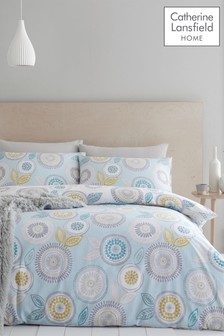 Anja Floral Duvet Cover and Pillowcase Set by Catherine Lansfield