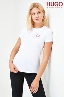 HUGO The Slim Tee_8 White T-Shirt