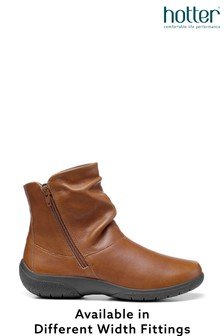 Hotter Whisper Wide Fit Zip Fastening Ankle Boots