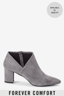 Forever Comfort® Side V Block Heel Boots