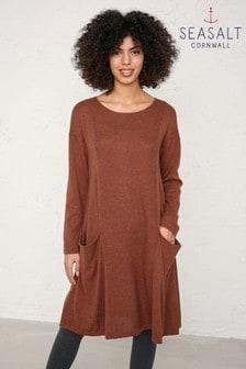 Seasalt Brown Heartfelt Dress Nutmeg