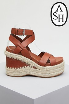 Ash Quanta Brown Wedge Shoes