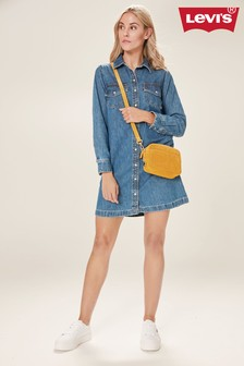 Levi's® Mid Blue Denim Shirt Dress