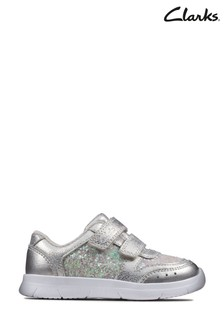 Clarks Silver Ath Sonar T Trainers