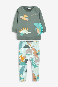 Appliqué Sweat Shirt And Stretch Leggings Set (0mths-2yrs)