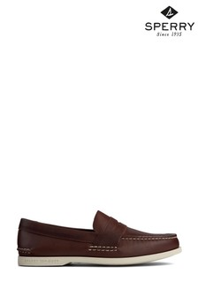 Sperry Brown Authentic Original Plushwave Penny Loafers