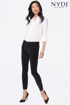 ג'ינסים בגזרת סקיני של NYDJ דגם Ami Velveteen בשחור