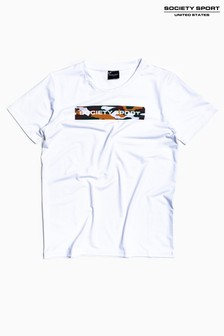 Society Sport Kids White Camo Box T-Shirt