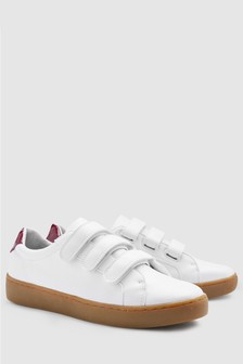 Gum Sole Three Strap Trainers