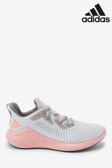 adidas Run Grey/Pink AlphaBounce 3 Trainers