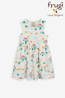 Frugi Organic Summer Dress - White India Print