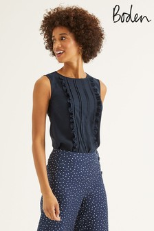Boden Blue Penny Top