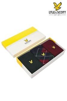 Lyle & Scott Zinfandel Argyle Socks Three Pack Gift Box