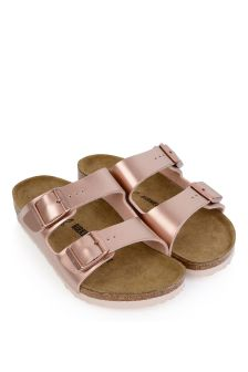 Electric Metallic Copper Arizona Sandals