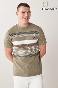 Fred Perry Striped Pique T-Shirt