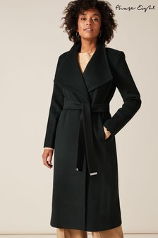 Phase Eight Green Nicci Trench Coat