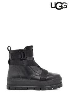 UGG Black Sid Platform Lace-Up Boots