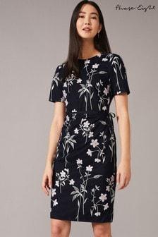 שמלה עם עלי כותרת של Phase Eight מדגם Kirsty בצבע כחול