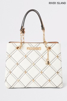 River Island Stone Studded Tote Bag