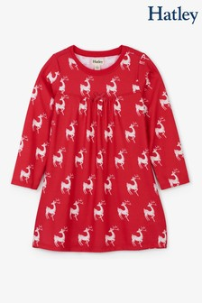 Hatley Red Mistletoe Deer Nightdress