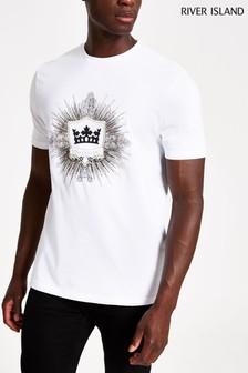 River Island Crown Print T-Shirt