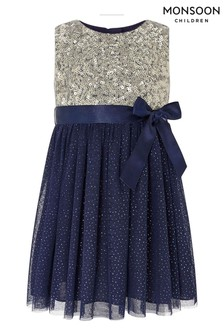 Monsoon Children Blue Baby Truth Sparkle Dress