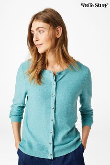 White Stuff Blue Harbour Button Cardigan