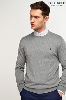 Polo Ralph Lauren Golf Grey Crew Neck Jumper