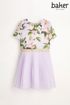 Baker by Ted Baker Girls Floral Pleated Dress