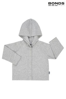 Bonds Grey Hooded Ribbed Cardigan